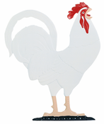 "Whitehall Products - 30"" Rooster Weathervane - Rooftop Color Aluminum - 03083"
