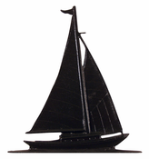 "Whitehall Products - 30"" Sailboat Weathervane - Rooftop Black Aluminum - 03030"
