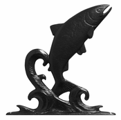 "Whitehall Products - 30"" Trout Weathervane - Garden Black Aluminum - 02999"