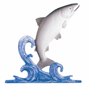 "Whitehall Products - 30"" Trout Weathervane - Rooftop Color Aluminum - 03001"