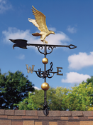 "Whitehall Products - 46"" Eagle Weathervane - Gold-Bronze Aluminum - 00428"