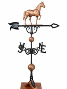 "Whitehall Products - 46"" Horse Weathervane - Copper Aluminum - 02048"