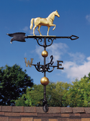 "Whitehall Products - 46"" Horse Weathervane - Gold-Bronze Aluminum - 00429"