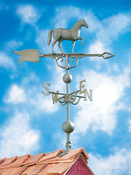 "Whitehall Products - 46"" Horse Weathervane - Verdigris Aluminum - 45114"