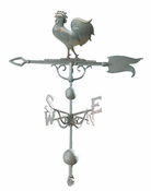"Whitehall Products - 46"" Rooster Weathervane - Verdigris Aluminum - 45112"