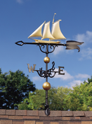 "Whitehall Products - 46"" Yacht Weathervane - Gold-Bronze Aluminum - 00423"