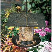 "Whitehall Products - 6"" Dragonfly Tube Feeder -  French Bronze"