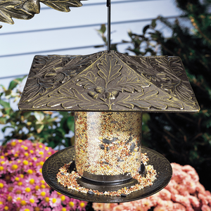 "Whitehall Products - 6"" Oakleaf Tube Feeder - French Bronze"