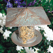 "Whitehall Products - 6"" Pinecone Tube Feeder - Copper Verdi"
