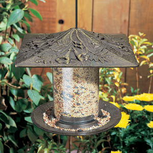 "Whitehall Products - 6"" Trumpet Vine Tube Feeder - French Bronze"