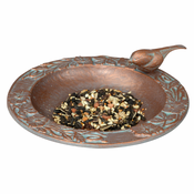 Whitehall Products - Chickadee Garden Bird Feeder - Copper Verdi