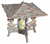 Whitehall Products - Chickadee Twilight Lantern - Copper Verdi