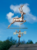 Whitehall Products - Copper Deer Weathervane - Polished Copper - 45021