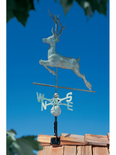 Whitehall Products - Copper Deer Weathervane - Verdigris Copper - 45020