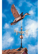 Whitehall Products - Copper Duck Weathervane - Polished Copper - 45037