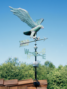 Whitehall Products - Copper Eagle Weathervane - Verdigris Copper - 45038