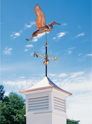 Whitehall Products - Copper Heron Weathervane - Polished Copper - 45035