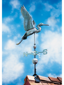 Whitehall Products - Copper Heron Weathervane - Verdigris Copper - 45034