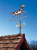 Whitehall Products - Copper Horse Weathervane - Polished Copper - 45031