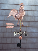 Whitehall Products - Copper Rooster Weathervane - Polished Copper - 45033