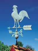 Whitehall Products - Copper Rooster Weathervane - Verdigris Copper - 45032