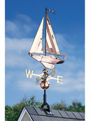 Whitehall Products - Copper Sailboat Weathervane - Polished Copper - 45027