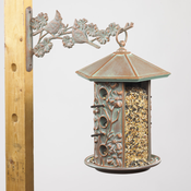 Whitehall Products - Dogwood Bird Feeder - Copper Verdi