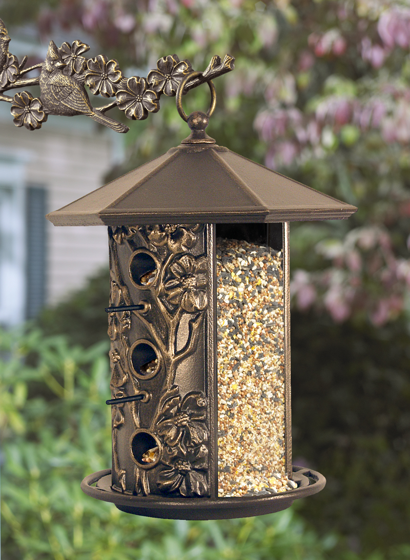 whitehall products dogwood bird feeder french bronze - Whitehall Products