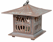 Whitehall Products - Dragonfly Tea Lantern - Copper Verdi