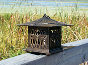 Whitehall Products - Dragonfly Tea Lantern - Oil Rub Bronze
