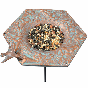 Whitehall Products - Hummingbird Garden Bird Feeder - Copper Verdi