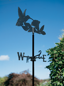 Whitehall Products - Hummingbird Garden Weathervane - Black Aluminum - 00228