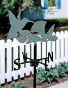 Whitehall Products - Hummingbird Garden Weathervane - Verdigris Aluminum - 45120
