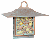 Whitehall Products - Nuthatch Suet Feeder - Copper Verdi