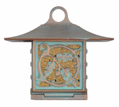 Whitehall Products - Oak Leaf Suet Feeder - Copper Verdi