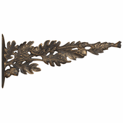 Whitehall Products - Oakleaf Nature Hook - Oil Rub Bronze
