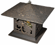 Whitehall Products - Oakleaf Tea Lantern - Oil Rub Bronze