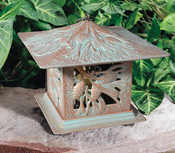 Whitehall Products - Pinecone Tea Lantern - Copper Verdi