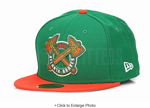 Atlanta Braves 1876 Lucky Green Orangeade Air Jordan VI Gatorade Matching New Era Hat