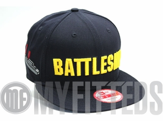 Battleship Navy Blue Yellow Hasbro Board Game New Era Snapback