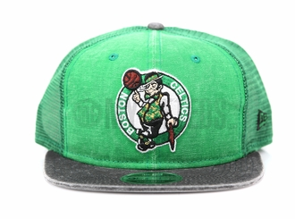 Boston Celtics Rugged Team Trucker Official Team Colors Trucker Original Fit New Era Snapback