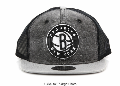 Brooklyn Nets Rugged Team Trucker Official Team Colors New Era Trucker Mesh Snapback