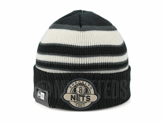 Brooklyn Nets Striped Select Est. 1967 Double Knit New Era Winter Skully Beanie