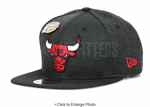 Chicago Bulls 1998 NBA Finals Champions Jet Black Tech Scarlet New Era Original Fit Snapback