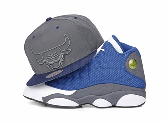 "Chicago Bulls Air Jordan XIII ""Flint"" Retro Green Eyes Mitchell & Ness Snapback Hat"