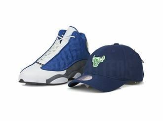 "Chicago Bulls Air Jordan XIII ""Flint"" Retro Matching Mitchell & Ness Flex Fit Dad Hat"