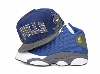 "Chicago Bulls Air Jordan XIII ""Flint"" Retro Wordmark Mitchell & Ness Snapbck Hat"