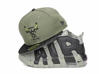 "Chicago Bulls Army Olive Satin Black Air Jordan VI Pinnacle ""SNL Flight Jacket"" New Era Hat"