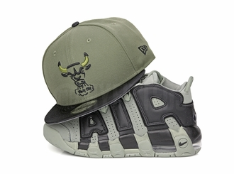 "Chicago Bulls Army Olive Satin Black Air Jordan VI Pinnacle ""SNL Flight Jacket"" New Era Snapback"