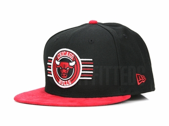 "Chicago Bulls Aviator Jet Black Scarlet Faux Suede Air Jordan XIII ""BRED"" New Era Hat"